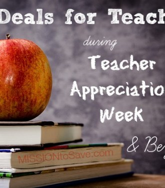 Deals for Teachers during Teacher Appreciation Week and Beyond