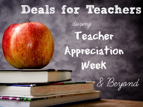 apple on books with text deals for teachers during teacher appreciation week