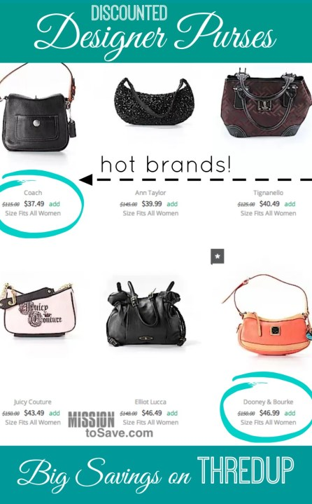Find discounted designer purses on thredup! Savings in the bag!