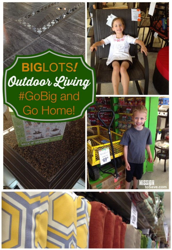 Big Lots has great Outdoor Living products! #GOBig and take it home! #sponsored