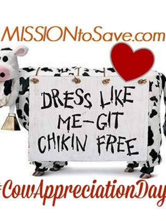 I love Chick-fil-A Cow Appreciation Day!