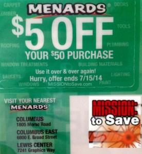 Menards Coupon Mailer