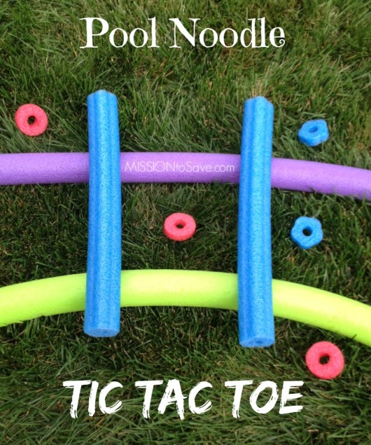 pool noodle tic tac toe game