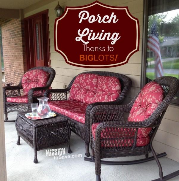 Loving our Porch Living thanks to Big Lots! #GObig #sponsored