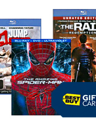 Buy 2 Movies get Free Best Buy Gift Card