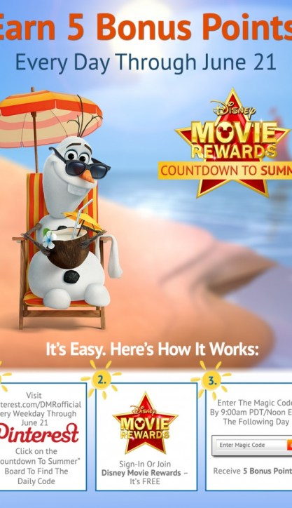 Bonus Disney Movie Rewards on Pinterest thru 6/21