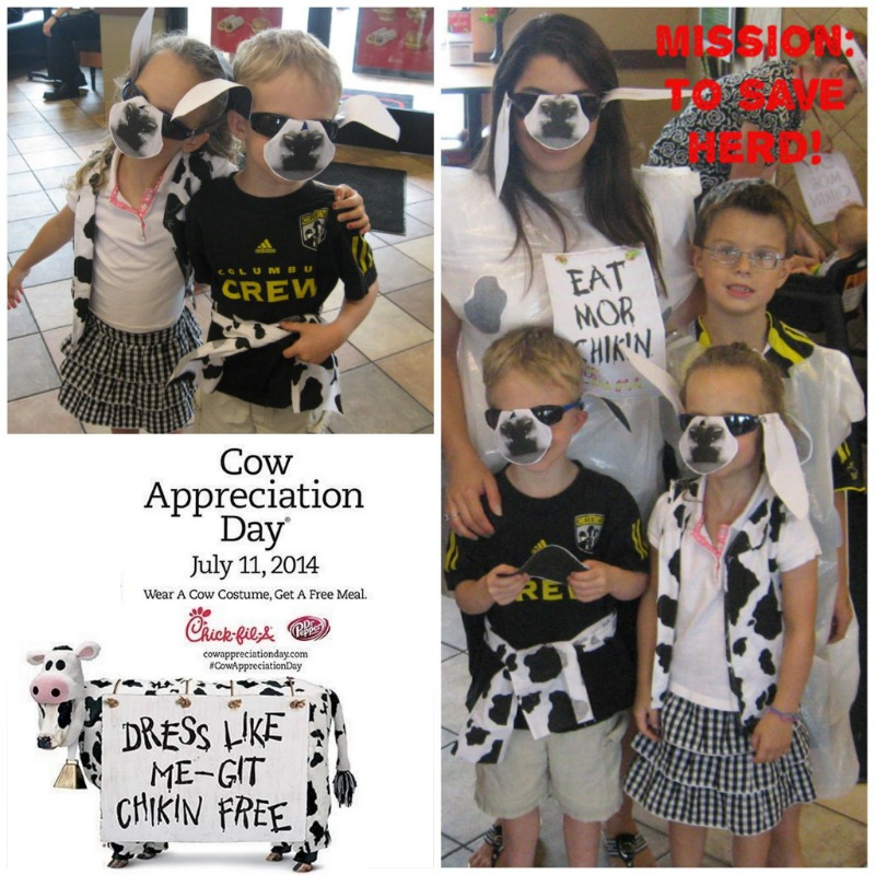 picture about Printable Chick Fil a Cow Costume identified as Cost-free Foodstuff at Chick-fil-A Cow Appreciation Working day 2014, July
