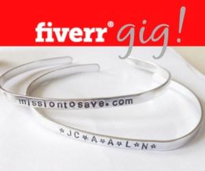 fiverr gig bracelets