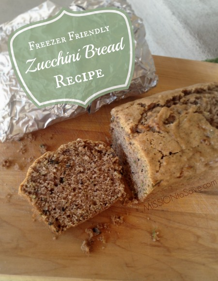 Freezer Friendly Zucchini Bread Recipe