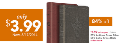 Bibles for $3.99