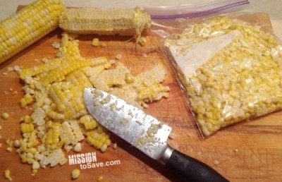 Learn Tips for How to Freeze Corn and other produce.