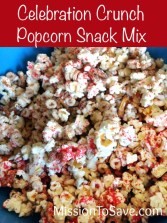 Celebration Crunch Popcorn Snack Mix Recipe is perfect for any occasion. And so easy to make!