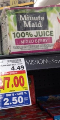 juice boxes at Kroger Mega Sale