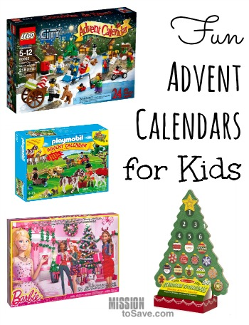 Fun Advent Calendars for kids to countdown to Christmas!