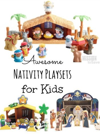 Cute Nativity Playsets for kids.