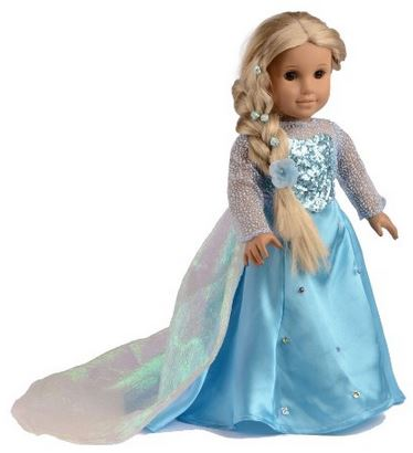 american girl doll elsa dress