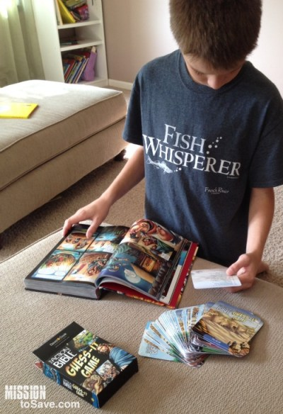 The Action Bible Guess-It Game is a fun anf interesting way to get your kid in the Word.
