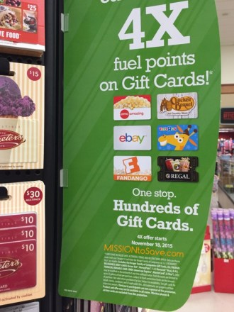 4x Fuel Points at Kroger