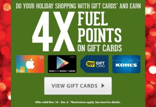Kroger 4X Fuel Points!