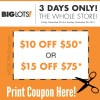 Save More with 3 Day Big Lots Coupon 12/26-12/28