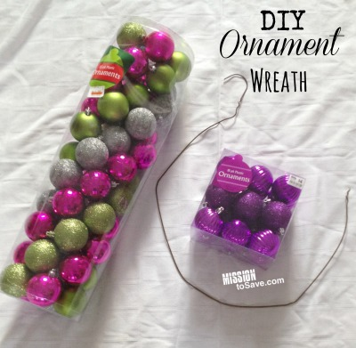 DIY Ornament Wreath supplies