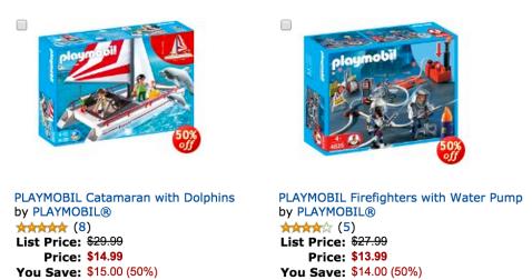 50% off playmobil on Amazon