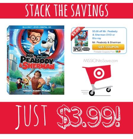 Target Mr. Peabody & Sherman Combo Pack Deal