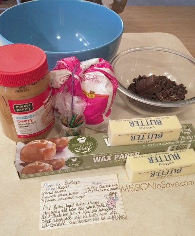 Buckeyes Candy Recipe ingredients