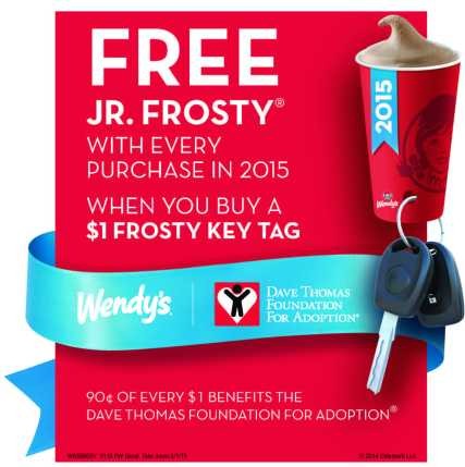 Wendy's Frosty Key Tags are back. $1 gets you a year of FREE Frostys!
