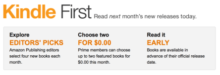 Kindle First- Read next month's new releases now
