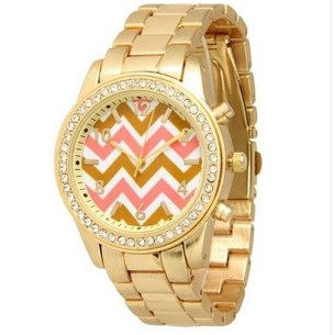 Hot deal on a chevron boyfriend style watch