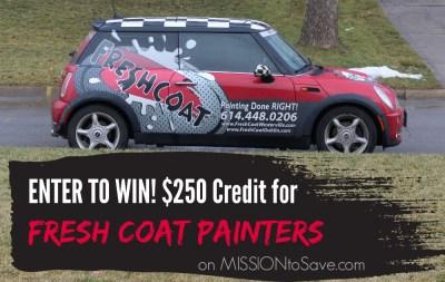 Enter to Win Fresh Coat Credit