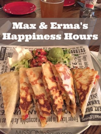 Read about Max & Erma's Happiness Hours and Enter to Win $25 Gift Card
