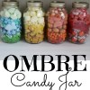 Pretty Ombre Candy Jar Makes a Perfect DIY Gift Idea