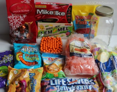 Make sweet and fun DIY Candy Jar gifts with goodies found at Big Lots