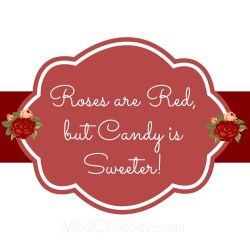 Free Printable Roses are Red, but Candy is Sweeter Gift Tag. Perfect for DIY gift ideas (Valentines or Any Time!)
