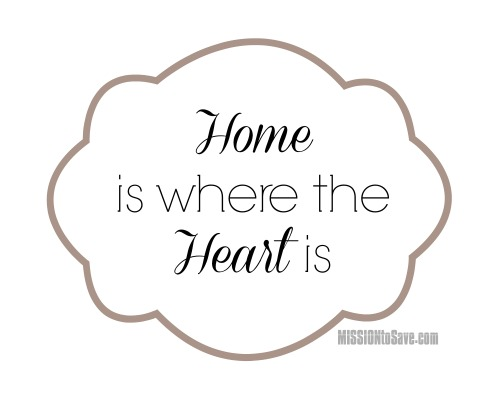Home is where the Heart is Printable. Create a a DIY, Personalized picture for a wedding, anniversary or house warming gift.