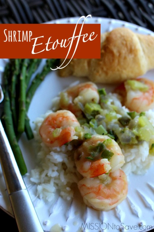 "Try this simple Shrimp Etouffee recipe. It is a ""northern-ized"" version of a Creole classic- with just enough Cajun ""oo-ee""!"