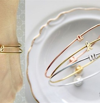 Sweet Initial Bangle Sale