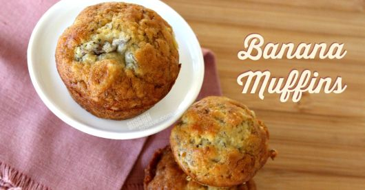 Bake up a batch of these easy Banana Muffins. Perfect for breakfast or a snack.