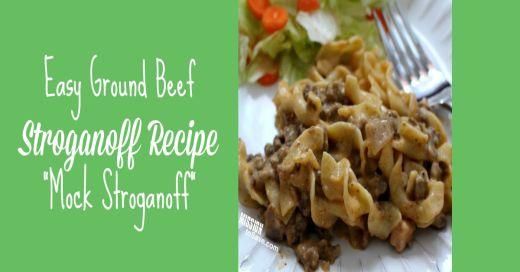 easy Beef Stroganoff Recipe Mock Stroganoff