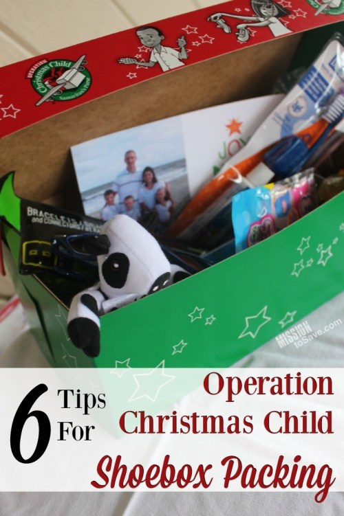 Check out these 6 Tips for Operation Christmas Child Shoebox Packing. What kind of box, what items and more. All to help you bring Joy this Christmas.