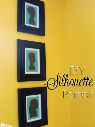 How to make a DIY Silhouette Portrait.