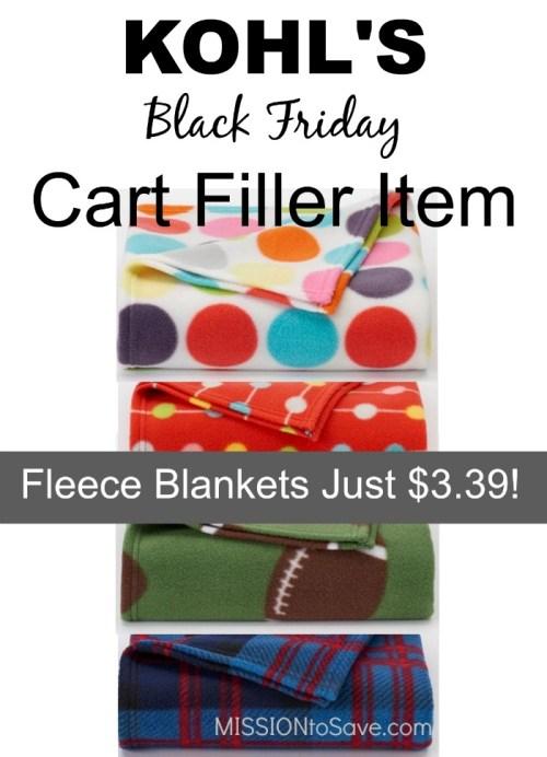 Fleece Blankets just $3.39
