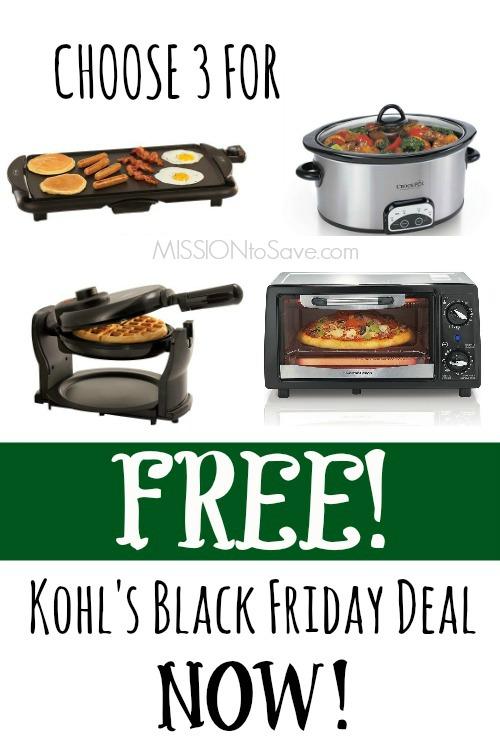 Kohl S Black Friday Small Appliance Rebate Offer 3 Free
