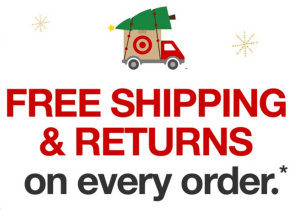 Target Free Shipping until Christmas