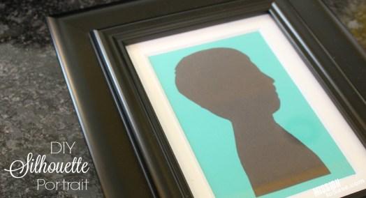 close up DIY Silhouette Portrait