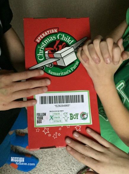 praying for our OCC Shoebox