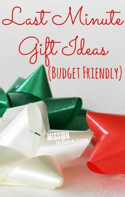 Budget Friendly Last Minute Gift Ideas