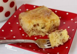 """You've got to try this Honey Buns Cake recipe. It tastes like """"Debbie's"""" only better! A dessert you can eat for breakfast- yum!"""